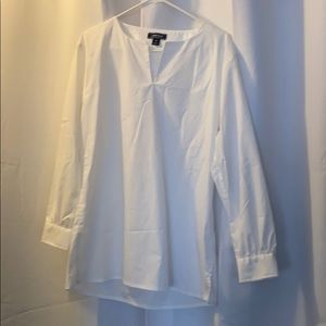Lands End white tunic top